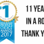 11 Years in a row!!!Thank YOU!